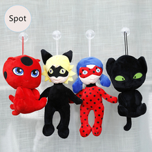 30cm New Miraculous Ladybug Cat Noir Juguetes Plush Toys Lady Bug Adrien Marinette Plagg Tikki Stuffed