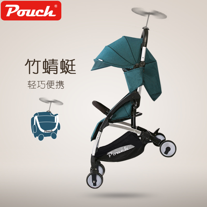 2017 Pouch new baby stroller super light umbrella baby car folding carry on air plane directly Minnie size patent leather handbag shoulder bag for women