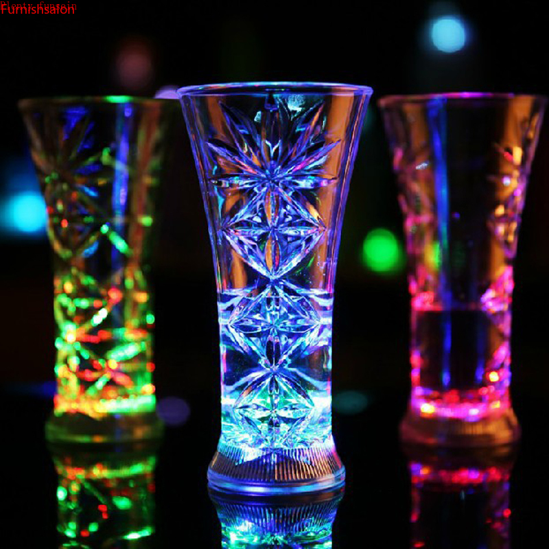 cute LED Automatic Flashing Cup Sensor Light Up skull Mug Wine Beer Whisky Drink Christmas Party Bar Club drinkware 400 550ml in Other Bar Tools from Home Garden