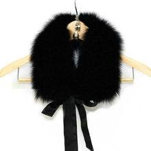 Freeshipping Manufacturers selling ribbon fox collars coat collar