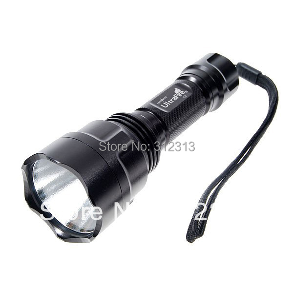 Generic CREE Q5 LED 500 Lumen C8  5 Mode LED Flashlight Handheld Torch Light Lamp Black