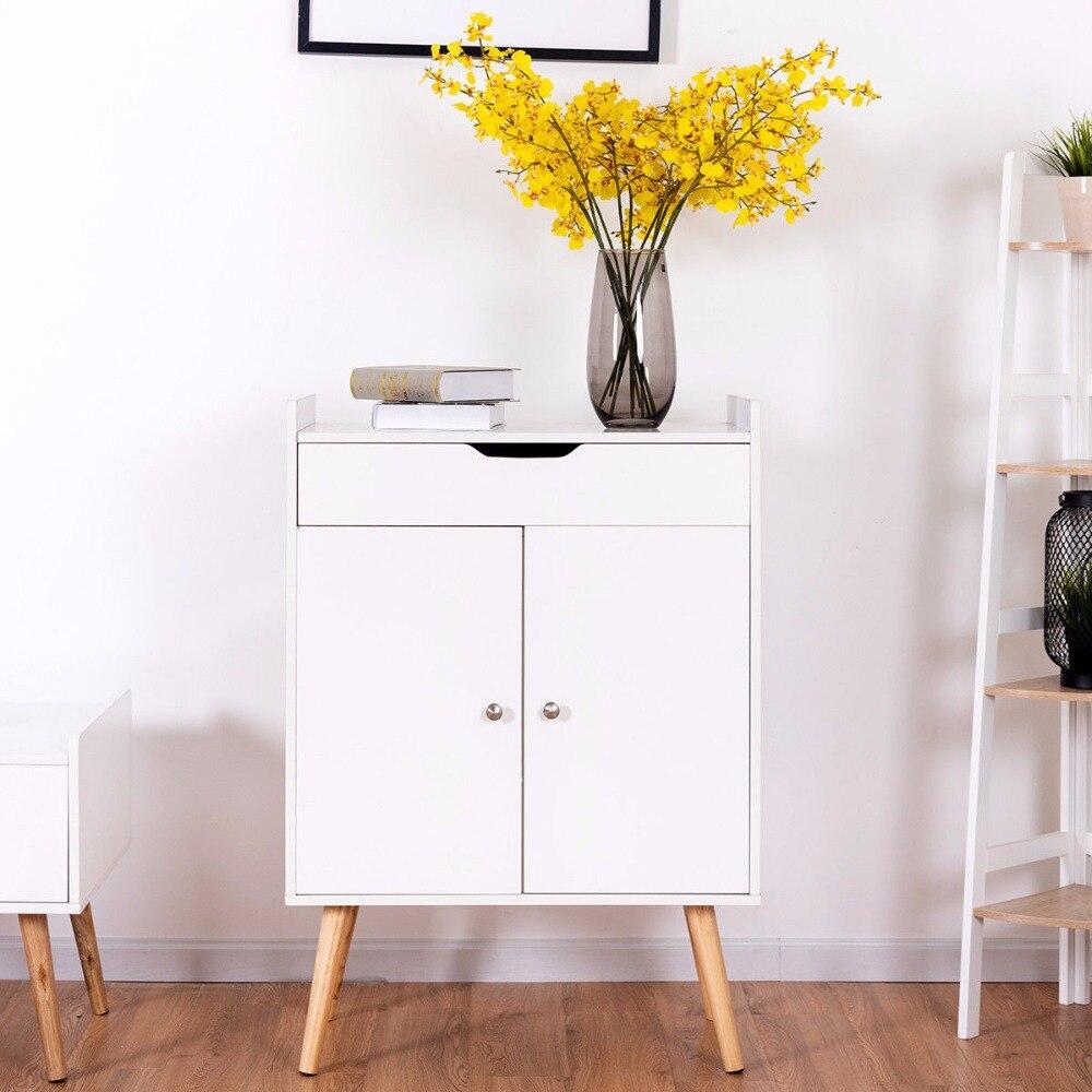 Giantex deux portes Buffet Buffet armoire de rangement Console armoire Table Sever affichage salon meubles HW57470