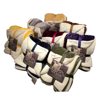 Svetanya Throws Blanket thick warm Sherpa Flannel Fleece Plaids Solid color Line 200x230cm 150x200cm