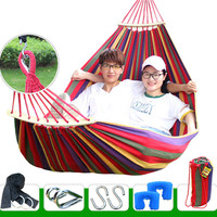 Chaise Lounge Plus Size Swing Chair Hammock Double 2 Person Anti rollover Lounger Furniture Folding Bed Hammock Lounge Chair