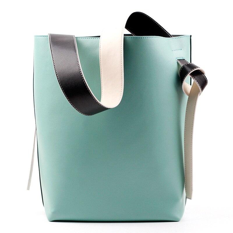 Women Casual Tote Bag Bucket Handbags Famous Brand Densiger Split Leather Drawstring Bag Shopping with Purse Shopper Bag