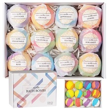 12 Pcs Natural Spa Essential Oil Bath Bombs Ball Set for Girlfriends Women Moms Christmas Birthday New Year Gifts Salt Bath Ball 6 pcs lot mini wooden scoops for bath salts essential oil candy laundry detergent 3 bamboo bath salt spoon men women cosmetic