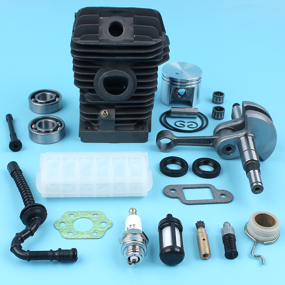 42.5mm Cylinder Piston Crankshaft Bearings Oil Pump Kit For STIHL MS250 025 MS230 023 Chiansaw w/ Worm Gear Oil Fuel Filter купить недорого в Москве
