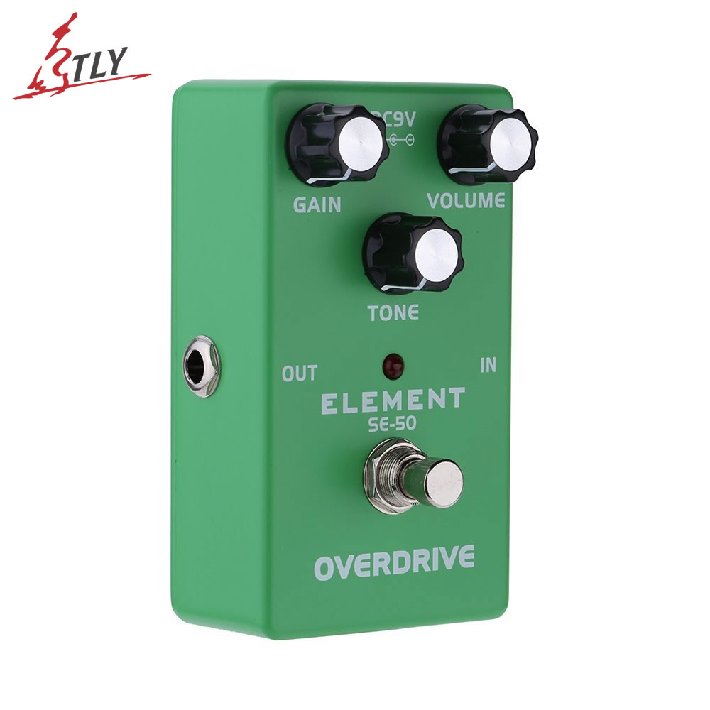 цена ELEMENT Vintage Overdrive Guitar Effect Pedal True Bypass Durable Aluminum Alloy Guitar Parts & Accessories онлайн в 2017 году