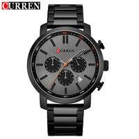 Curren 8315 Men Quartz Watch Top Brand Luxury Black Stainless Steel Waterproof Sport Mens Watches Calendar Male Clock Relogio