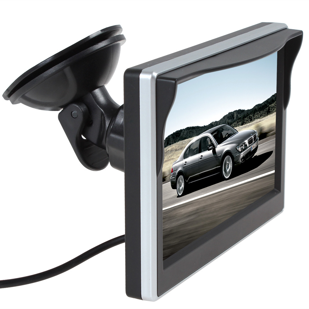 Universal 5-inch Ultra-thin High-definition  Rear-view Monitor Display 720 P 800 * 480 Two-way AV Input (including Stands)