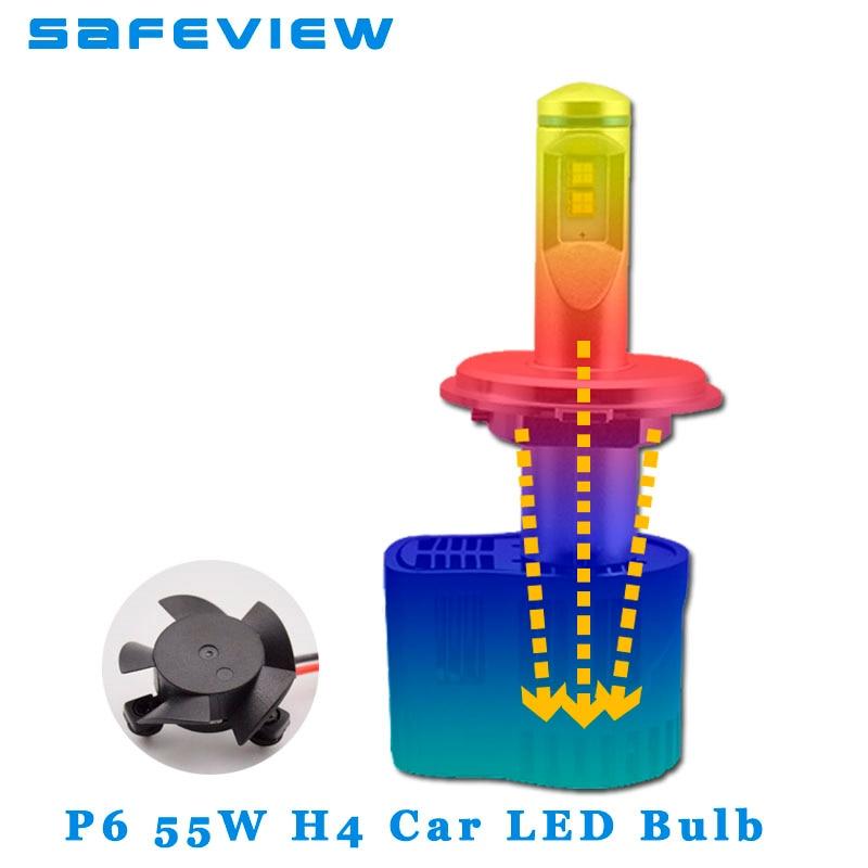 Safeview Высокое качество H4 H7 Led H11 H8 H9 Автомобильные фары лампы 55 Вт 10400LM 6000 К Ремонт Заменить освещение для автомобилей лампы - 5