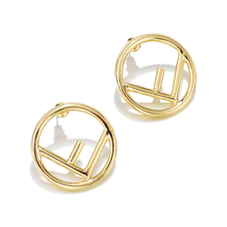 Timeless Wonder Glam Cutout Circle F STUD Statement Earrings Letter Party Gift Brincos Runway Top Earring Ins Punk New