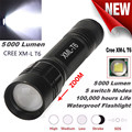 High Quality   5 Modes XM-T6 Super Bright X800 Tactical Flashlight LED Zoom Military Torch
