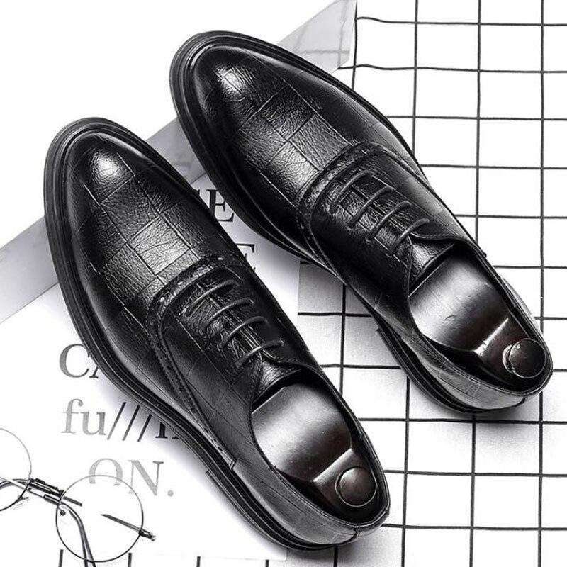 Fashion New Mens Oxfords Bussiness Dress Shoes Lace Up Brogue Shoes Man Men0040