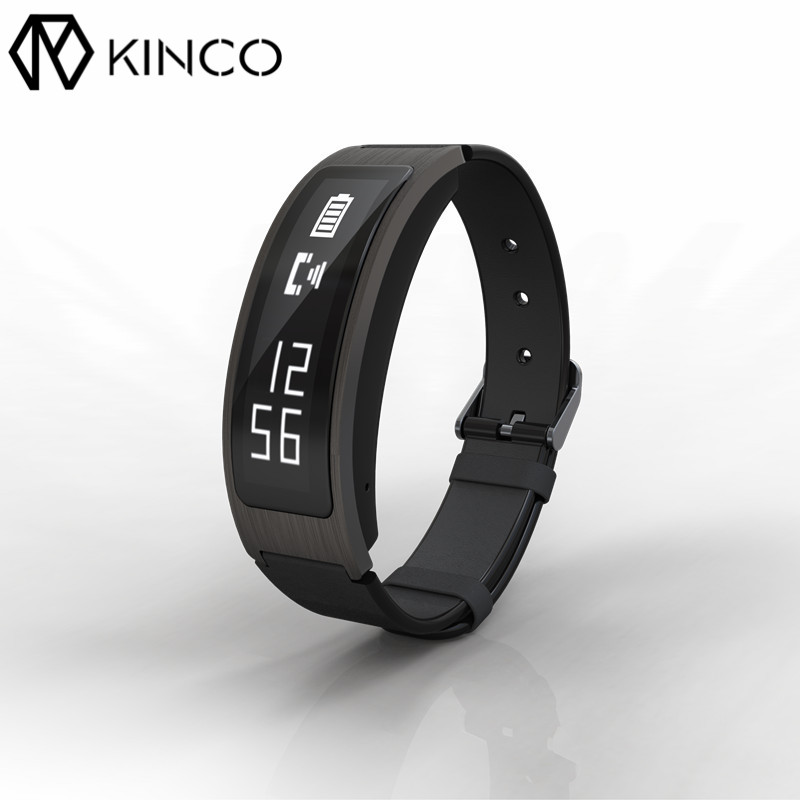 KINCO Bluetooth4.0 OLED Heart Rate Health Blood Oxygen Monitor Smart Bracelet Waterproof Sport Tracker Wristband for IOS/Android edwo df23 smartband heart rate monitor waterproof swimming smart wristband health bracelet fitness sleep tracker for ios android
