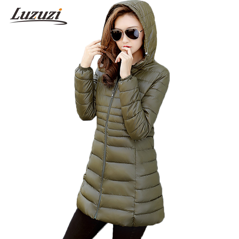 Women Winter Coats Female Solid Long Hooded Winter Jackets jaqueta feminina invierno Ladies Cotton Down Parka Outwear 2017 W1282 2017 new hooded women winter coats female winter down jackets cotton padded parkas autumn outwear abrigos mujer invierno y1488