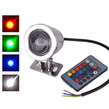 10W AC 12V RGB LED Underwater Lamp IP65 Waterproof Swimming Pool Pond Fish Tank Aquarium LED