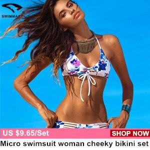 Triangle swimwear bikinis set string
