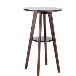 Европейский стиль простой твердой древесины маленький бар столик журнальный мелкая бытовая круглый стол барный