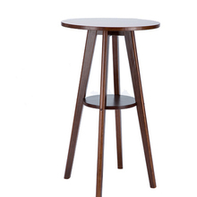 European simple bar table solid wood small tea coffee household round