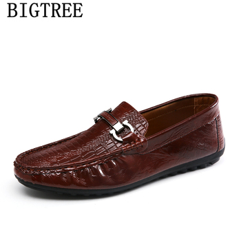 crocodile men loafers mens shoes casual leather loafers patent leather shoes for men coiffeur luxury brand men shoes ayakkabi leather