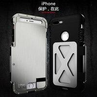 Béquille En Métal Inoxydable 304 Flip Cas Pour iPhone 7 iPhone7 Plus Antichoc Sport Couverture En Plastique De Silicium Cas Mince dur Shell