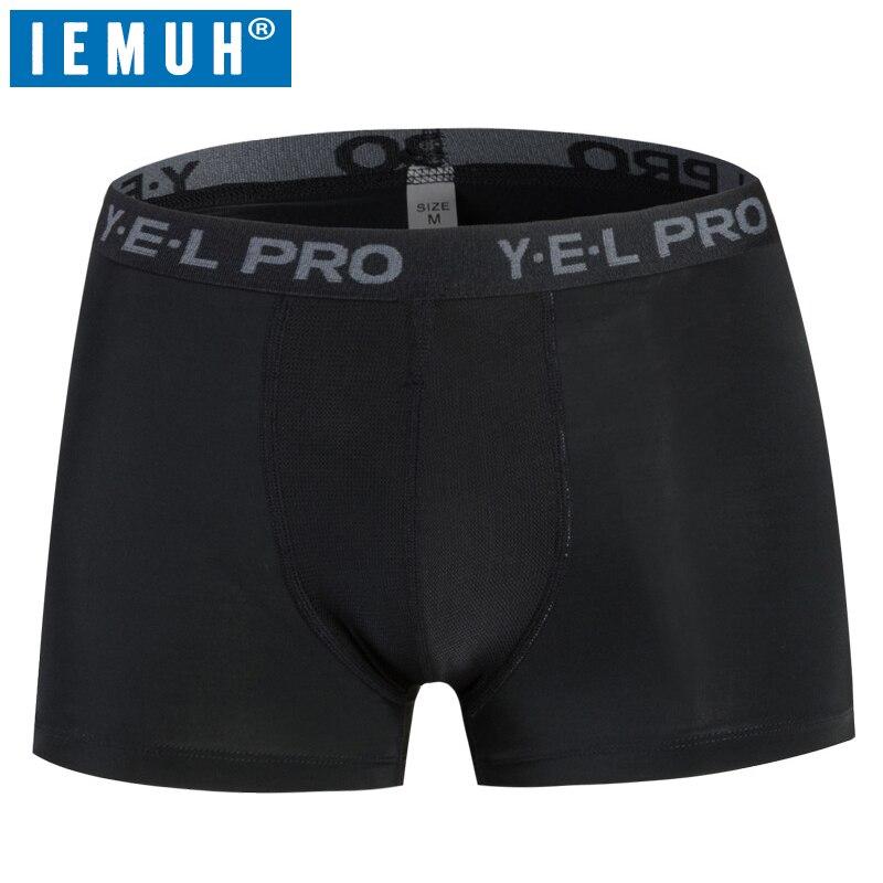 IEMUH marca 2018 nuevos Boxers ropa interior de hombre bragas de secado rápido hombre Sexy transpirable absorber sudor ropa interior pantalones cortos cómodos