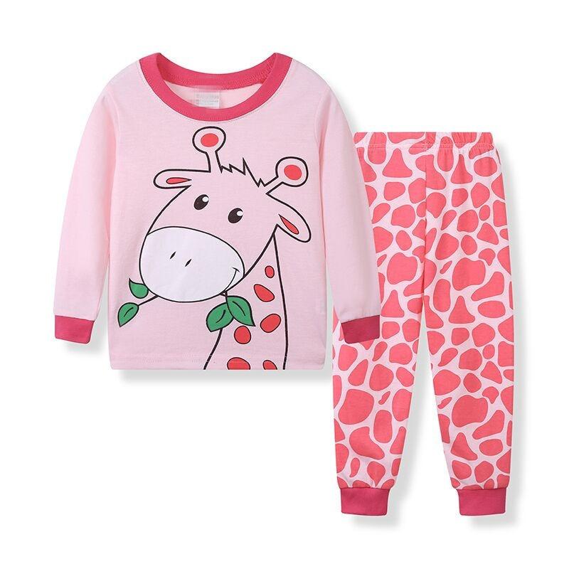 TUONXYE Children Pajamas Excavator Car Pyjamas Set Kids Pijama Infantil Boys Nightwear Cotton Girls Long Sleeve Sleepwear Suit 2