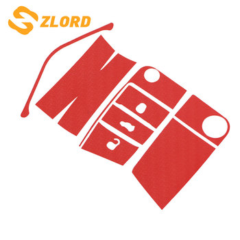 Zlord pegatinas de cubierta de llave de coche de fibra de carbono para VW Golf 7 MK7 GTI para Skoda Octavia A7 A 7 2014 -2017 Seat León Ibiza Cuptra