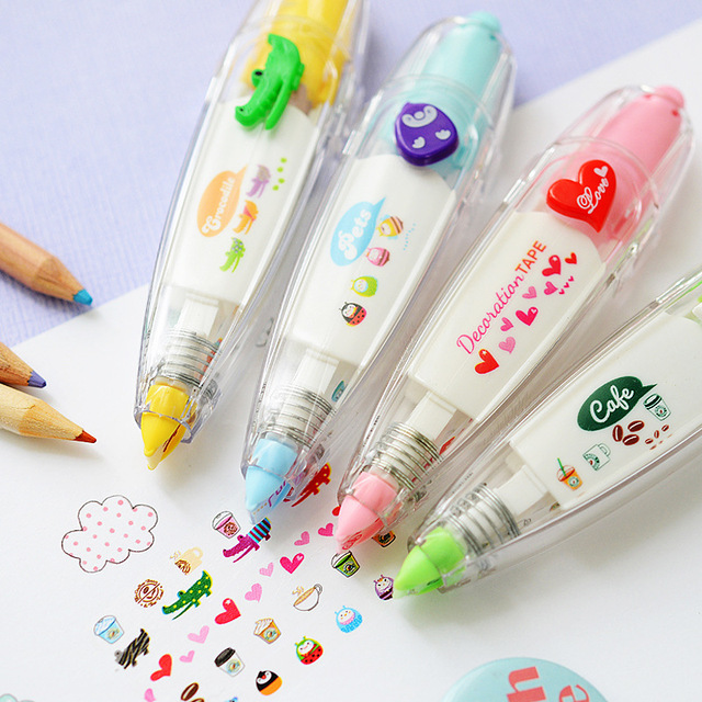 Diy Promotional Korean Stationery Cute Novelty Decoration Correction With Fluid School And Office Supplies