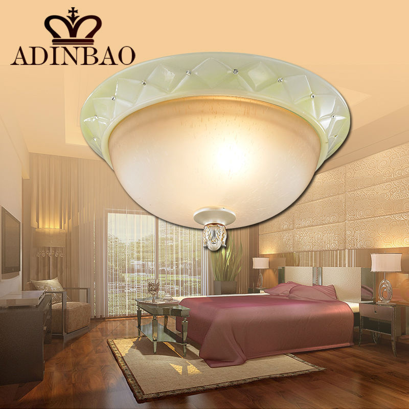 ФОТО round glass ceiling light for bed room 6827-3X