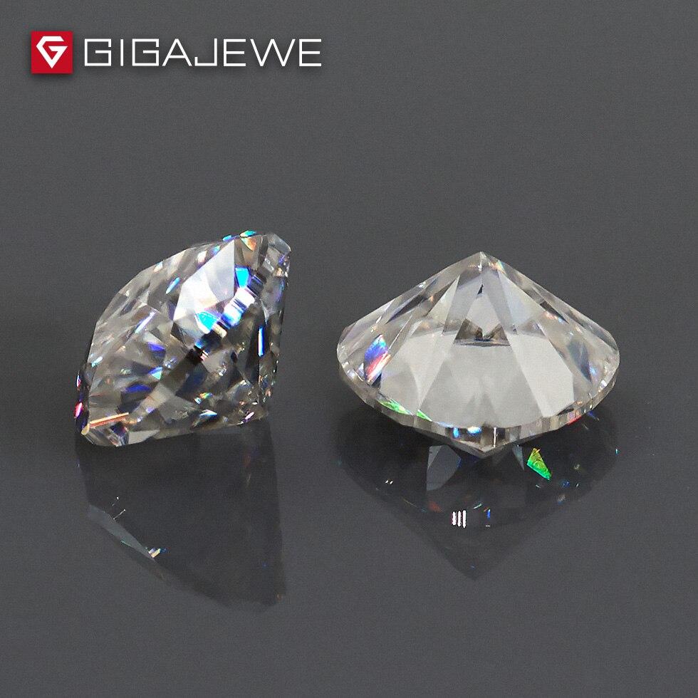 Gigajewe 0.5ct 5mm ef 색상 조 컷 moissanite 스톤 diy 보석 매력 diy 비즈 보석 만들기 패션 여자 친구 선물-에서구슬부터 쥬얼리 및 액세서리 의  그룹 3