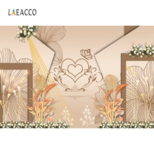 Laeacco Bridal Golden Pattern Backdrop Wedding Party Photography Background Customized Photographic Backdrops For Photo Studio