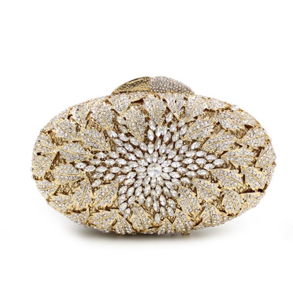 women gold Crystal Diamond Evening Clutch Minaudiere Bag Bridal Wedding Handbag Purse College student graduation party prom bags women leopard pattern clutch evening gold silver with crystals fashion clutch bag handbag wedding bridal prom purse smycy e0058