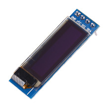 цена на IIC I2C 0.91 128x32 Blue Color Character OLED Display Module DIY Clear Optoelectronic Showing DC 3.3V 5V For Arduino PIC