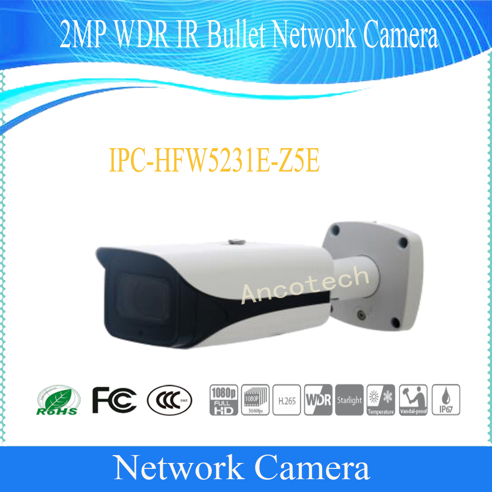 Free Shipping DAHUA Security IP Camera 2MP WDR IR Bullet Network Camera with POE without Logo IPC-HFW5231E-Z5E bullet camera tube camera headset holder with varied size in diameter
