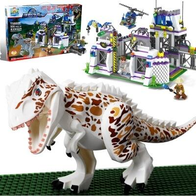 TS8000 Violent Brutal Dinosaur Indominus Rex Breako Jurassic Dinosaur World 826pcs Bricks Building Block Toys Gift For Children violent management