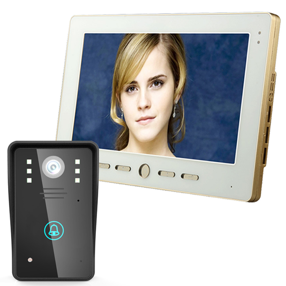 Mountainone 10 inch color TFT LCD font b Video b font Door Phone Intercom Doorbell Touch