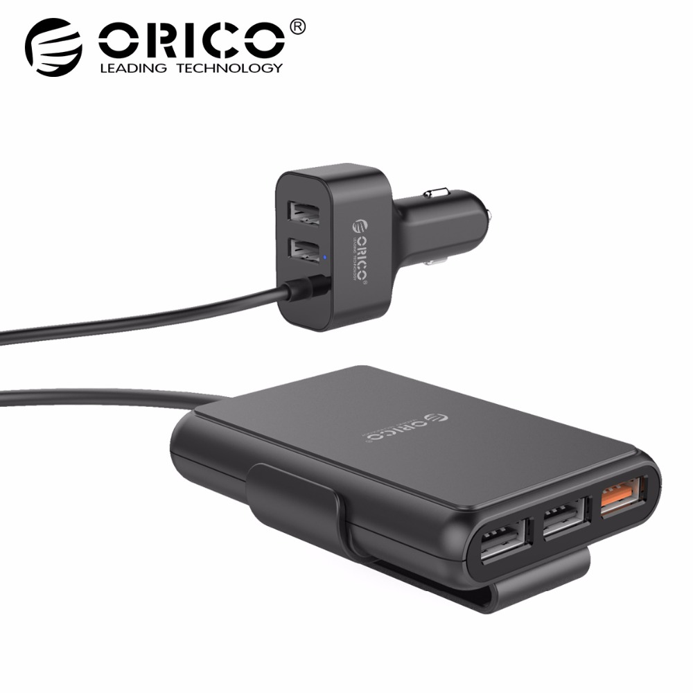 ORICO UCP 5 Ports Car Charger QC3.0 Quick Charger Adapter for Samsung Xiaomi Huawei Tablet