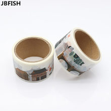 JBFISH Washi Tape Adhesive Paper Tape School Office Supplies Decorative Tape Sticker 9018