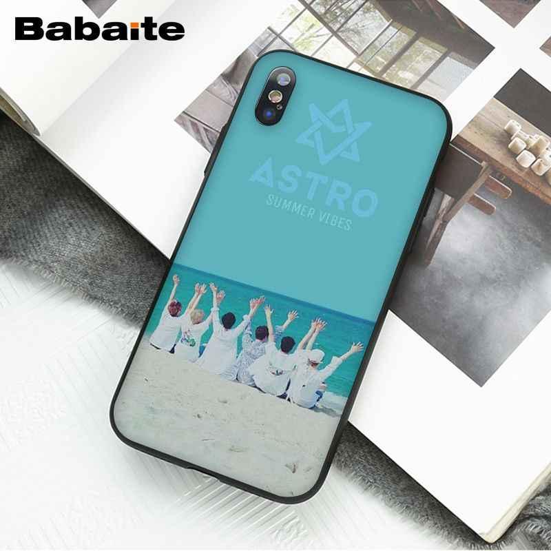 Babaite KPOP ASTRO w kształcie serca K-POP TPU miękkiego silikonu czarny futerał na telefon dla iPhone 6S 6plus 7 7plus 8 8Plus X Xs MAX 5 5S XR