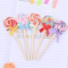 TOMTOSH Cute candy style lollipop ballpoint pen Kawaii ballpoint pens for school Stationery Office supplies