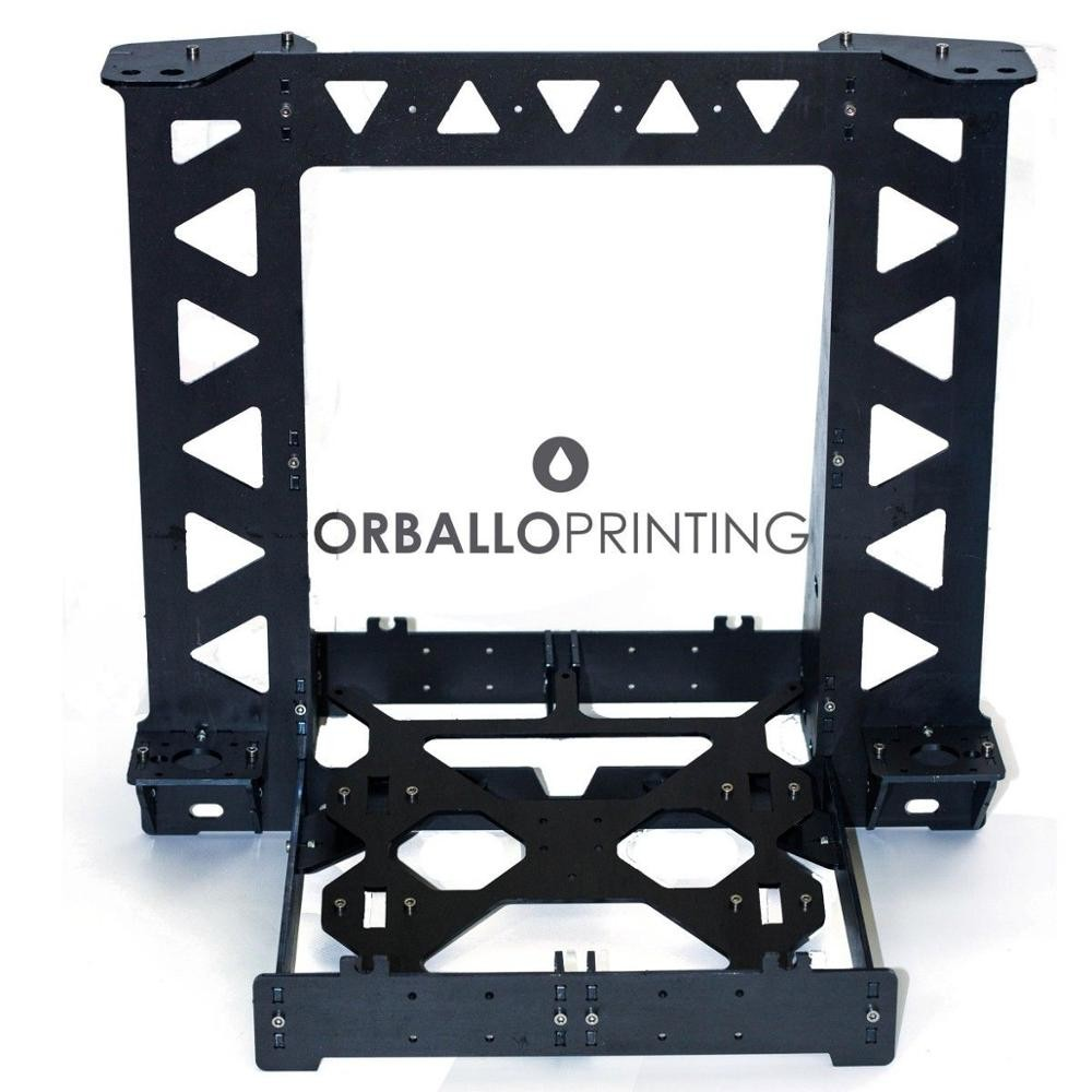 Black Color  Reprap P3STEEL Frame with Hardware kit  For DIY Prusa i3 3D Printer 2017 newest tevo tarantula prusa i3 3d printer diy kit