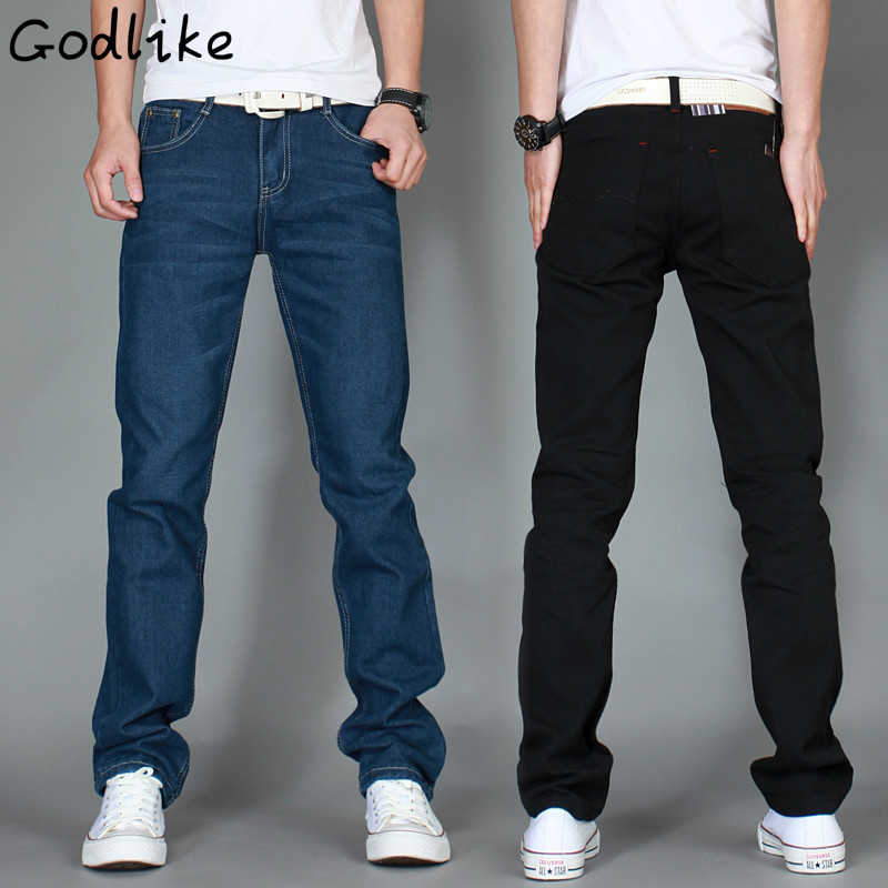 GODLIKE  2017 men fashion casual cotton slimming straight jeans/Men's self-cultivation of solid waist long jeans/large size maria p cantu global gender inequalities