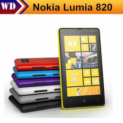"""Lumia 820 Chính Hãng Mở Khóa Nokia Lumia 820 Điện Thoại Thông Minh 8MP GPS GSM 4.3 """"Cảm Ứng điện dung Bluetooth Wi-Fi EMS"""