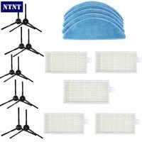 NTNT 5pair Side Brush 5pcs Hepa Filter 5pcs Mop Cloth For Chuwi Ilife V5 V3 Series