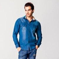Men S Shirt Luxury Brand 2017 Men S Long Sleeve Shirt Casual Men S Jeans Print