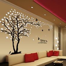 New arrival Lovers tree crystal three-dimensional wall stickers Living room tv sofa acrylic decoration