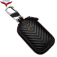 KUNBABY Gold VIP Genuine Leather Bag Car Key Case Cover Wallets Housekeeper Holders For BMW Audi