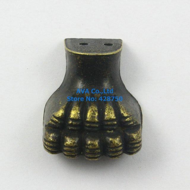 4 Pieces Antique Brass Jewelry Box Feet Animal Box Leg 25x29mm